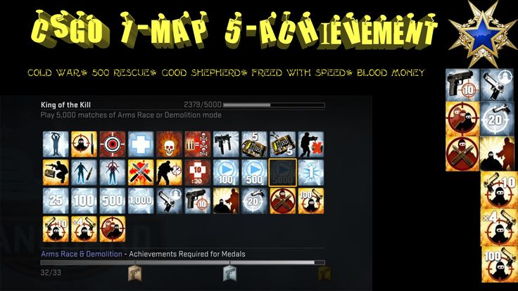 CSGO 1-Map/5-Achievement--Cold War-500 Rescue-Good Shepherd-Freed with S...