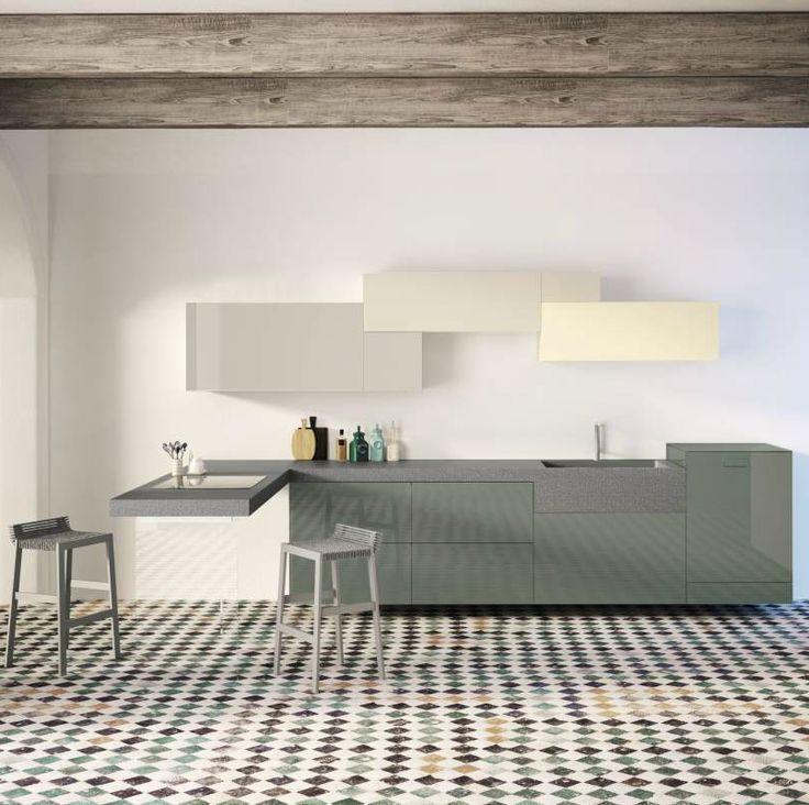 Water carves stone and change its colours. Monolito http://goo.gl/pRA5xf #lagodesign #interiordesign #kitchen #stone