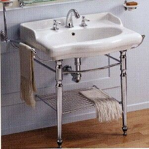 Chrome pedestal sink - might be more practical than the other one.