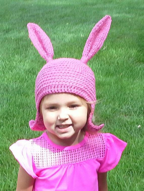 Check out this item in my Etsy shop https://www.etsy.com/listing/467911692/kids-pink-bunny-ear-hat