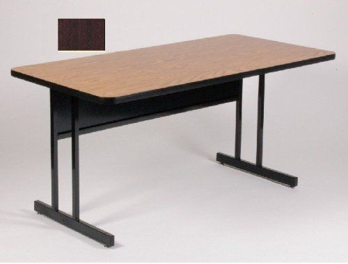 High Pressure Top Computer Desk Height Work Station - Mahogany by CORRELL. $381.00. Real high-pressure top with backer sheet 1.25 thick Sturdy all steel frames with adjustable nylon glides Steel modesty panel with wire management trough on inside bottom edge Modesty Panel has 2 wire management holes Dimensions: 48 x 30 x 29. Save 23% Off!