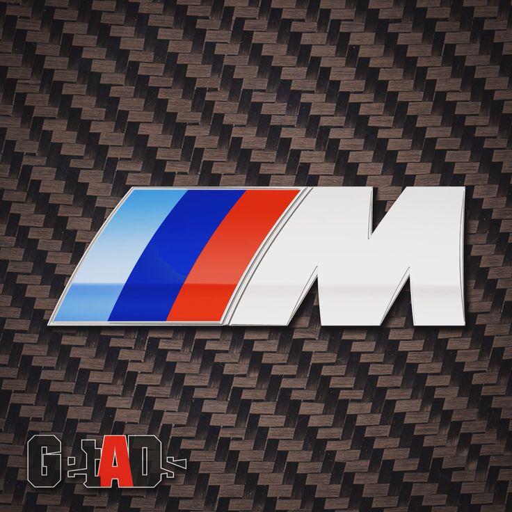 BMW M Power logo natural texture carbon