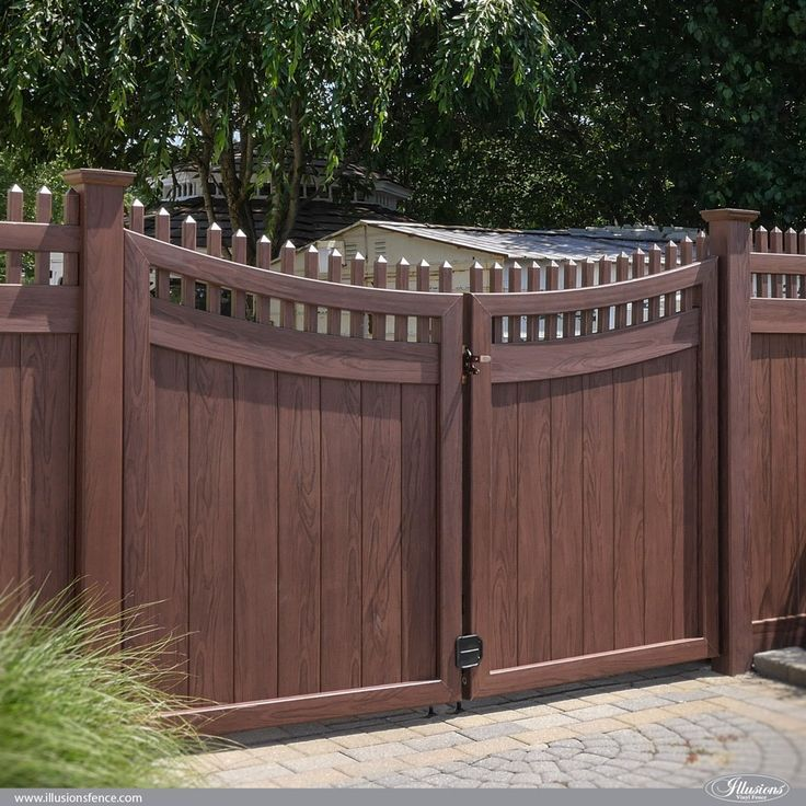 42 Vinyl Fence Home Decor Ideas For Your Yard Illusions Fence Vinyl Fence Wood Grain Vinyl Fence Fence Decor