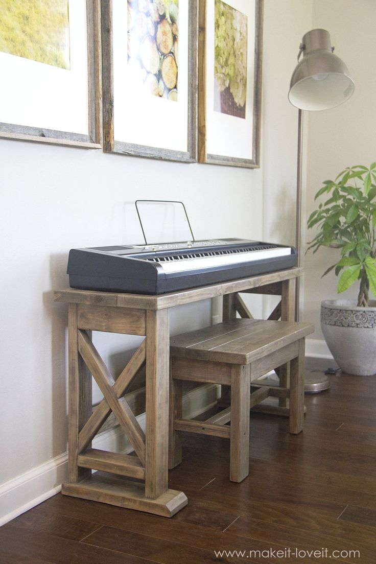 DIY Digital Piano Stand and Bench (...a $25 project!!) | via makeit-loveit.com Read Review here ...