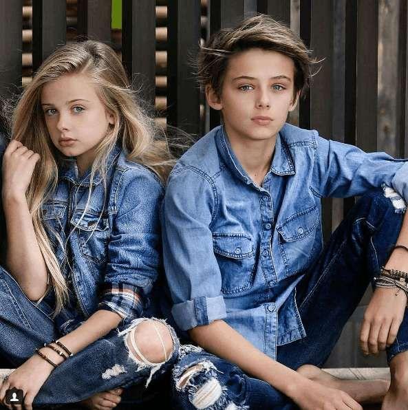 William Franklyn Miller: fotos del niño más guapo del mundo - William junto a una compañera
