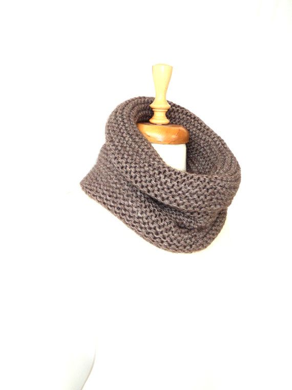 Christmas Brown Scarf Handmade Scarf Knitting Scarf by aykelila, $40.00