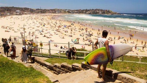 World famous Bondi Beach, Sydney, Australia #beach #travel #kilroy #surfer #surfing #ocean