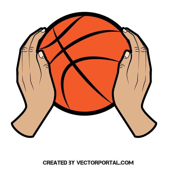 Basketball Ball In Hands Vector Image Basketball Ball Vector Images Basketball
