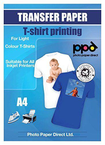 A4 Inkjet (Jet d'encre) Papiers transferts application avec un fer à repasser / Transferts pour T shirt - T Shirt léger x 20 Feuilles #Inkjet #(Jet #d'encre) #Papiers #transferts #application #avec #à #repasser #Transferts #pour #shirt #Shirt #léger #Feuilles