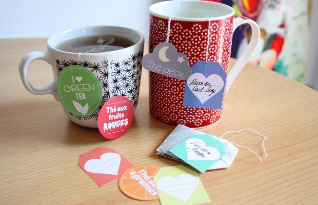 À télécharger sur notre site : des étiquettes pour sachets de thé http://www.modesettravaux.fr/etiquettes-sachets-de-the/
