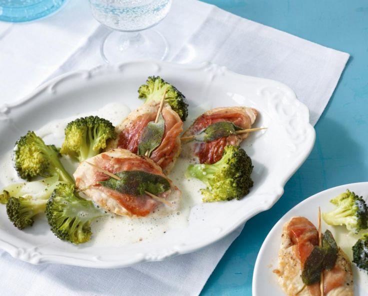 Puten-Saltimbocca mit Broccoli - [ESSEN UND TRINKEN]