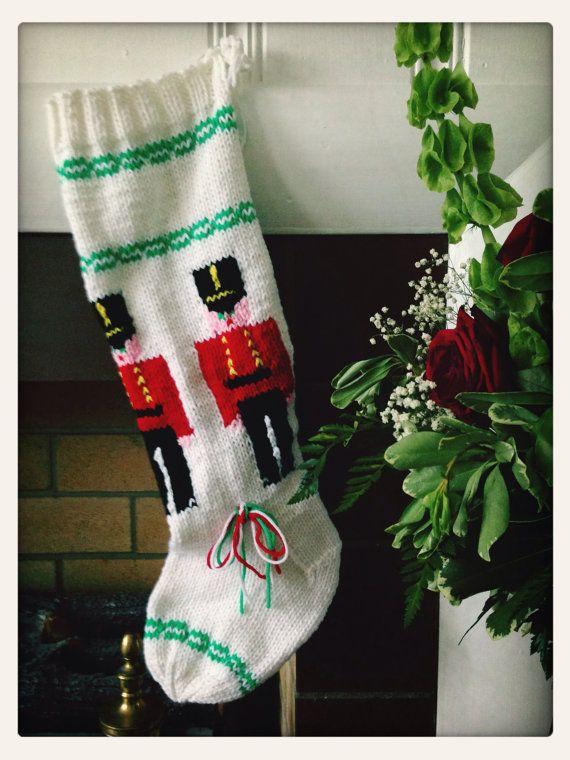 Grandma's HandKnitted Christmas Stocking  Tin by MrsKentuckyClaus, $30.00