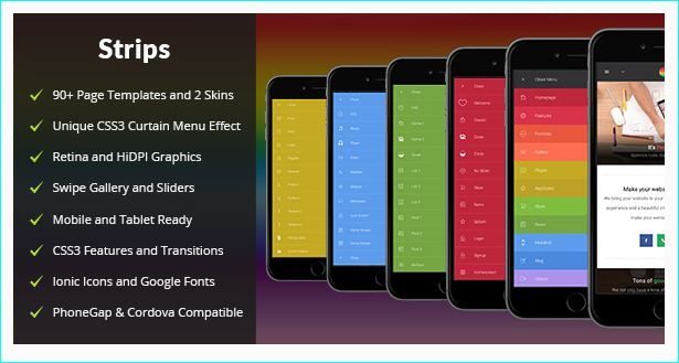 Best Creative HTML Mobile Website Templates Images By The Design - Phonegap templates