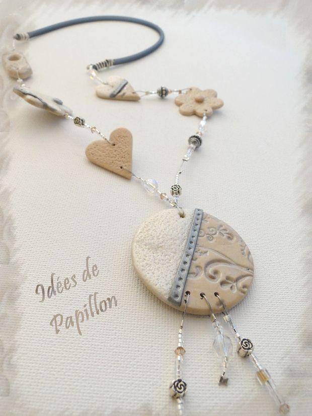 Idées de Papillon: Bijoux en fimo... un peu de beige !
