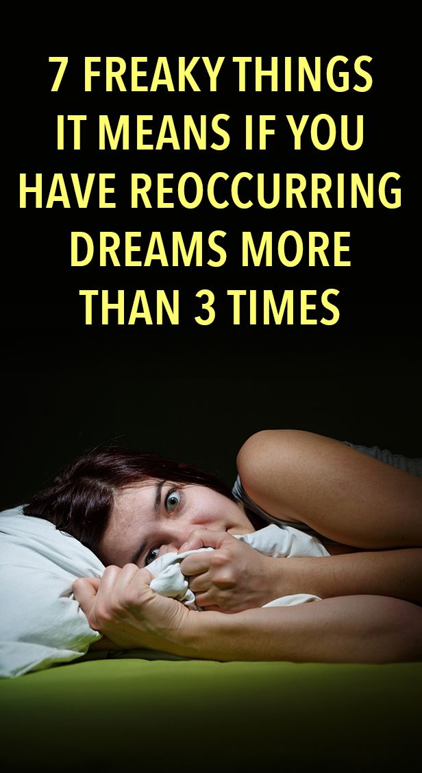 7 Freaky Things It Means If You Have Reoccurring Dreams ...