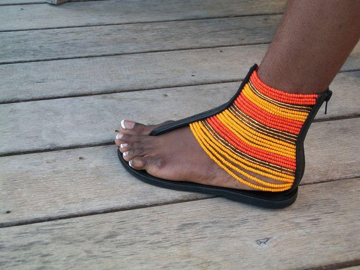 African Masai Beaded Sandals