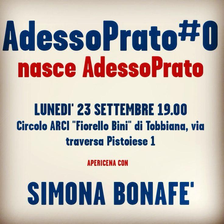 #Prato  Lunedì 23 settembre 2013, ore 19,00 C/O Circolo Arci #Bini #Tobbiana #Partecipa