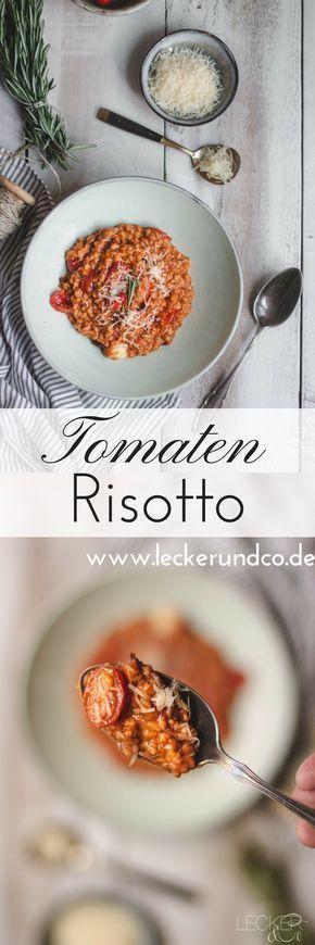 Tomatenrisotto von dreierlei Tomaten