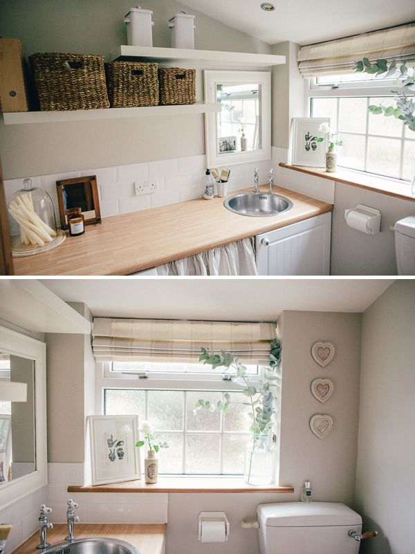 Neutral Utility Room with Natural Elements