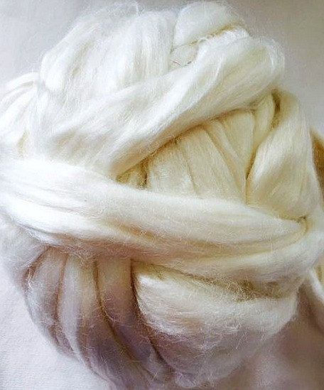 Undyed Bamboo Fibre for Spinning or Felting - Undyed by NickelbeeArtStudio on Etsy