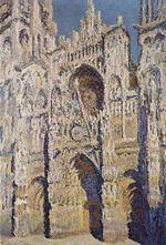 Claude Monet; La Cattedrale di Rouen. Il portale e la tour Saint-Romain, pieno sole; armonia blu e oro; 1892-93; olio su tela; Musée d'Orsay, Parigi.