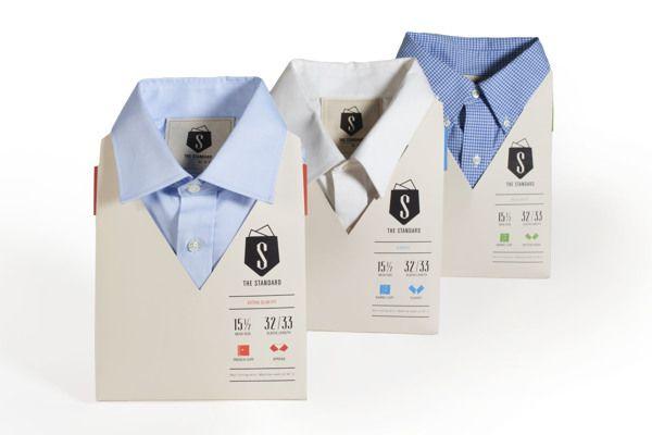 Una forma practica y original de empaquetar camisas para caballero. #packaging #ThinkOutside