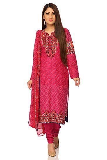6c1ce9607d BIBA Women's Straight Salwar Suit: Amazon.in: Clothing & Accessories ...