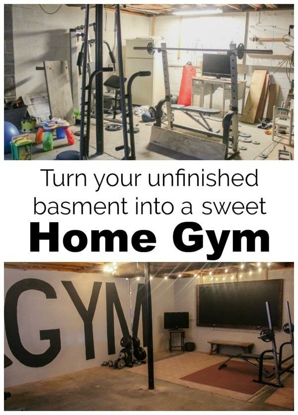 Unfinished Basement To Industrial Home Gym On A 100 Budget Home Gym Basement Basement Gym