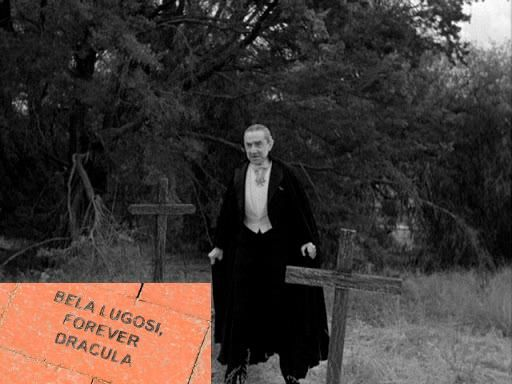 Bela Lugosi pictured at San Fernando Valley Pioneer Memorial Cemetery in Sylmar