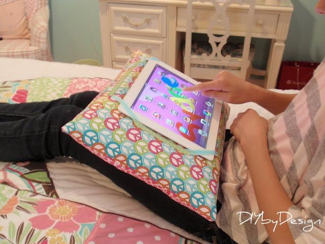 DIY: iPad Pillow Tutorial-why spend $20 on The Go-Go Pillow when you can make your own-and prettier too for a one of a kind gift! http://stores.ebay.com/NYC-Discount-Diva