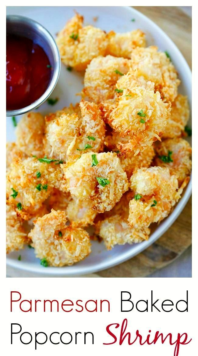 Parmesan Baked Popcorn Shrimp – Easiest and crispiest popcorn shrimp with no deep frying. Easy, healthy, super yummy | rasamalaysia.com