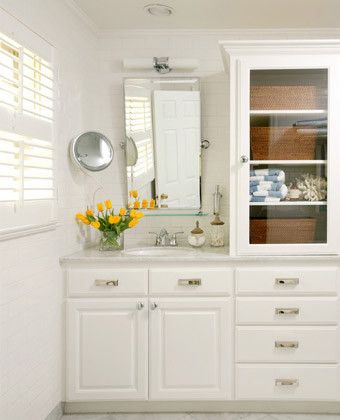 Lovely Bathroom Vanity and Linen Cabinet Combo