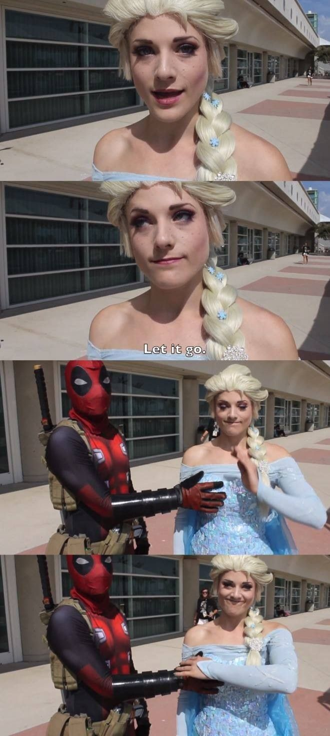 Best Deadpool & Elsa Cosplay ever