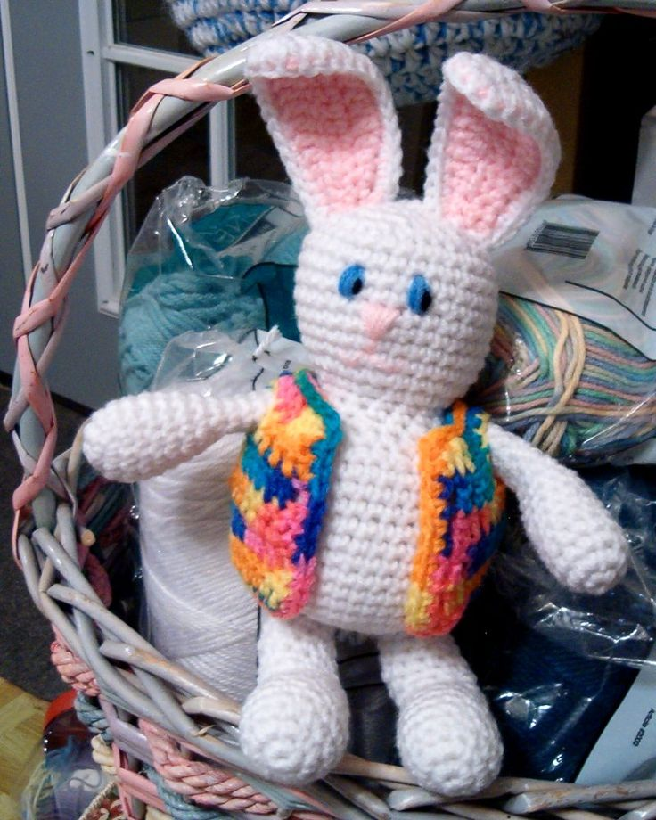 """Free pattern for """"Bunny Brite"""" from Crochet A Trunk-Full O' Fun!"""