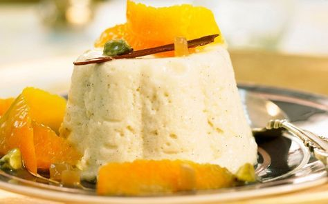 The wonderfully-named flummery pudding is thought to have been a Welsh dish that was later adopted by the English. Traditionally oatmeal-based, today there are many variations around the world, with the name often referring to a kind of fruit custard or mousse.  Picture: Bon Appetit / Alamy