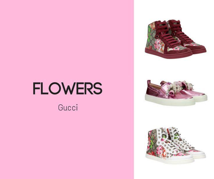 La primavera è quasi arrivata e con lei anche i magnifici fiori  che colorano le scarpe di Gucci in modo raffinato ed elegante.