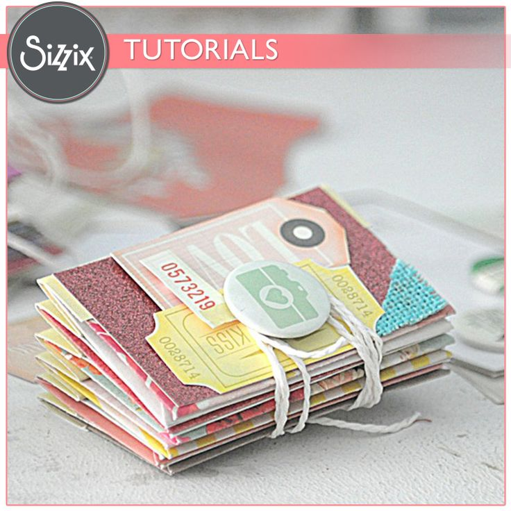 tutorial for a very, very cute mini album using cardstock mini albums and accordion spine
