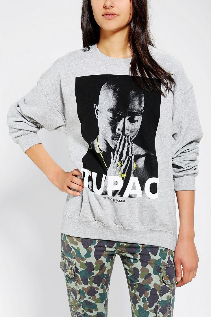 Tupac Pray Pullover Sweatshirt #urbanoutfitters