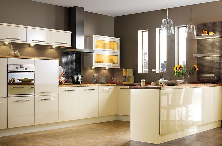IT Gloss Cream Slab   Kitchen Ranges   Kitchen   Rooms   DIY at B&Q …