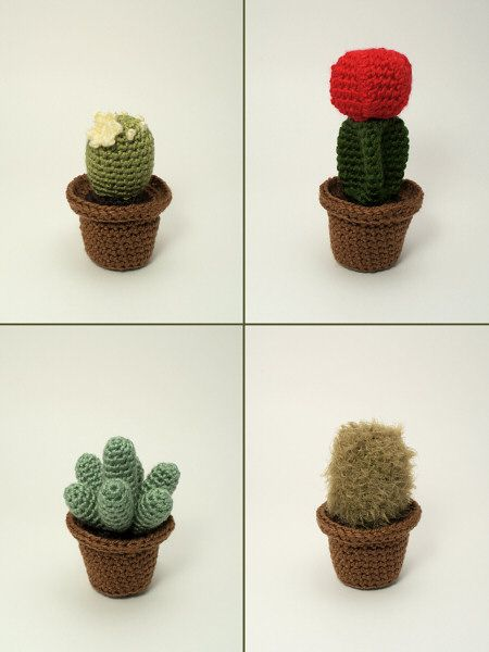 Cactus Collection 1: FOUR realistic crochet patterns