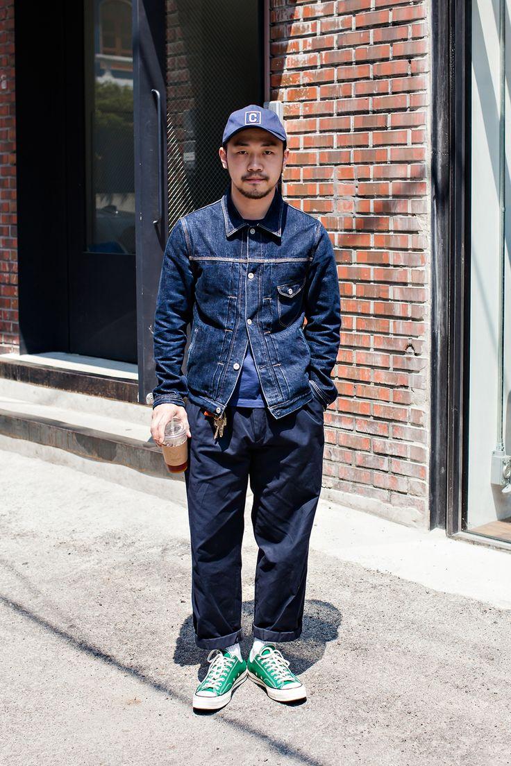 JACKET | COVERNAT PANTS | COVERNAT SHOES | CONVERSE Street Style Jung Moono, Seoul
