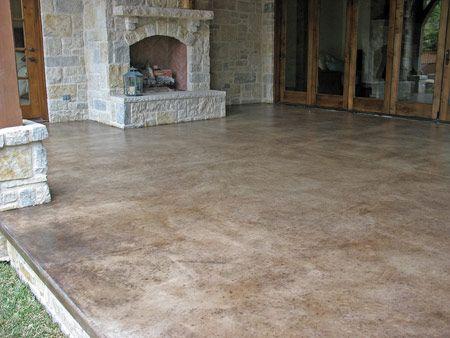 Decorative Concrete Is A Low Maintenance, Low Cost Alternative To A Plain Concrete  Floor.