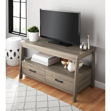 "Free Shipping. Buy Mainstays Logan TV Stand for TVs up to 47"", Multiple Finishes at Walmart.com"