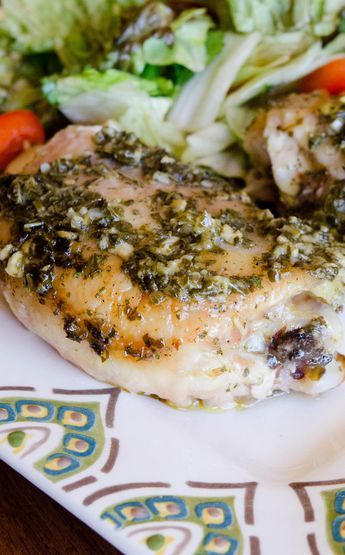 Simple and speedy this Pesto Ranch Chicken is a great freezer meal to throw in your Instant Pot pressure cooker for an easy dinner! via @onceamonthmeals