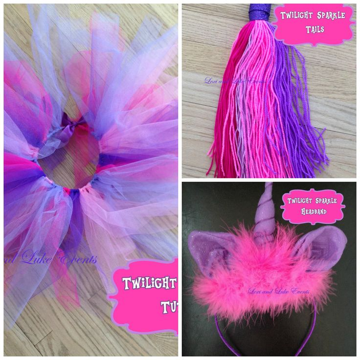 Lexi and Luke Events Handmade Twilight Sparkle Costume. Includes unicorn headband, tutu and tail.