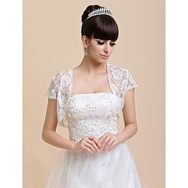 korte mouw kant bruiloft / speciale gelegenheid / casual wraps bolero schouderophalen – EUR € 12.34