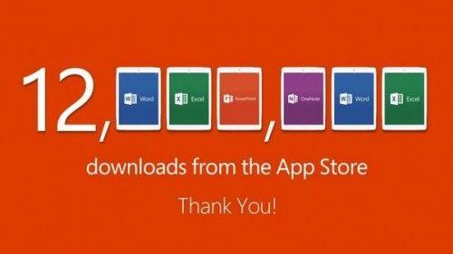 12 миллионов пользователей уже скачали новый Office для iPad