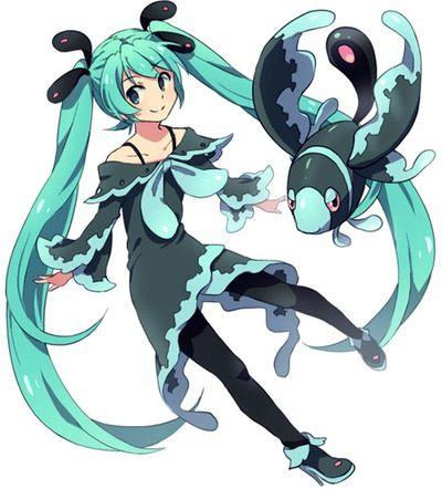 Vocaloid Pokemon Miku
