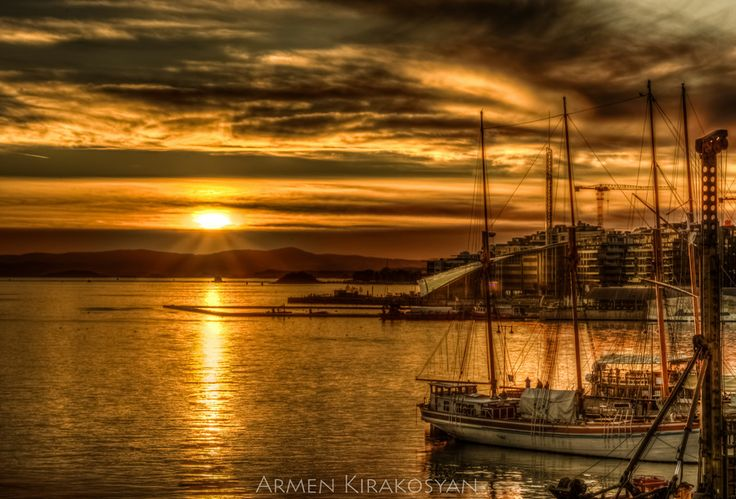 Sunset at Aker Brygge, Oslo Norway by Armen Kirakosyan on 500px