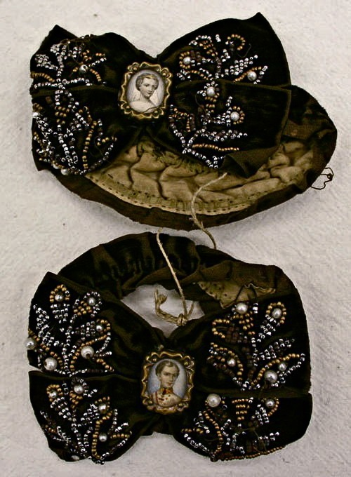 Cemeteries Ghosts Graveyards Spirits:  Coat-Sleeve Mourning Bands, circa 1850's.